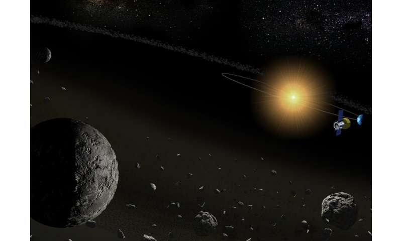 Space telescope detects water in a number of asteroids