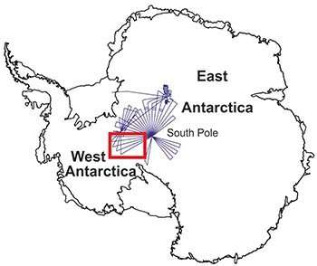 Subglacial valleys and mountain ranges discovered near South Pole