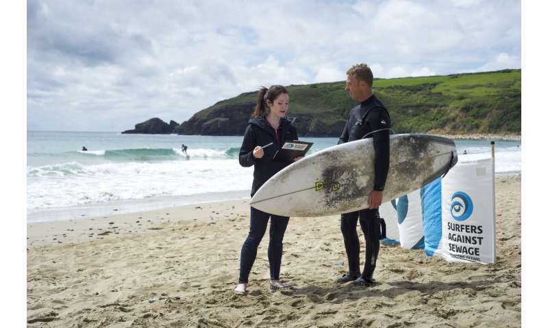 Surfers 'at higher risk of drug-resistant bug'