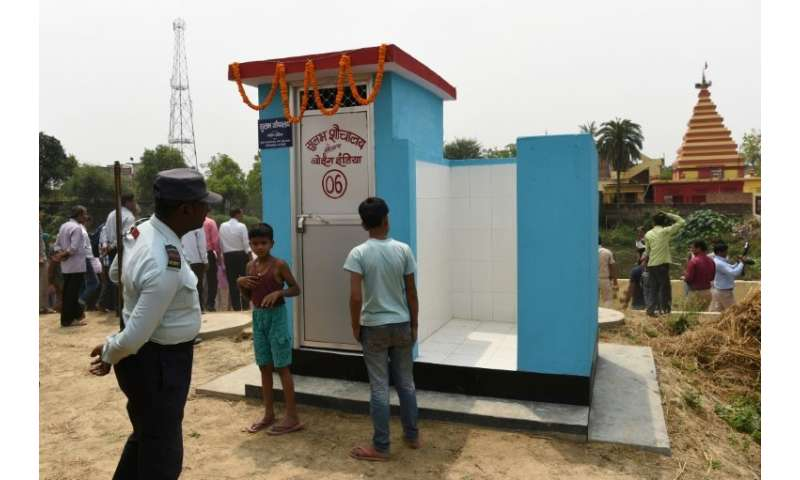 The Indian government says it has built more than 86 million toilets across the country of 1.25 billion people since October 201
