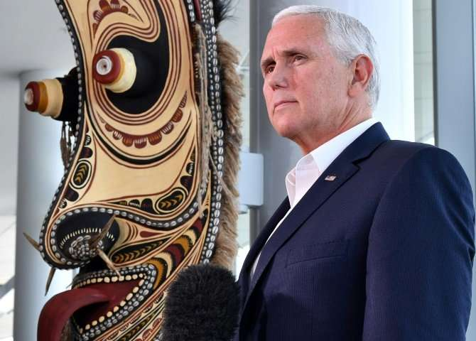 US Vice President Mike Pence, pictured in November 2018, said Space Command would integrate space capabilities across all branch