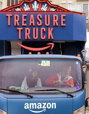 Who's that selling steaks off a truck? It's Amazon