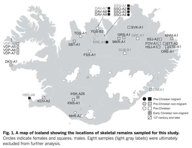 Scientists map the earliest Icelandic genome
