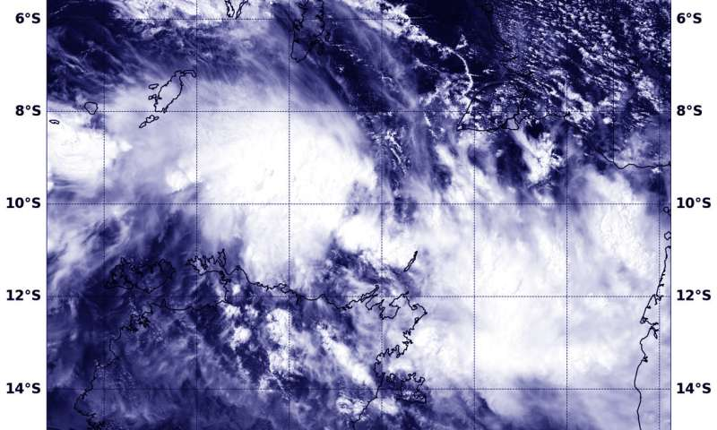 NASA sees Tropical Cyclone 16P develop