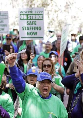 University of California nurses, medical workers join strike
