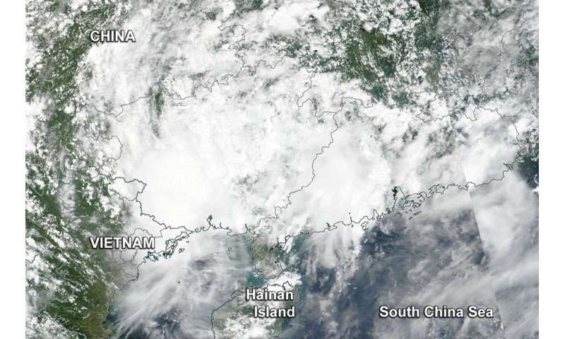 NASA satellite shows Son-Tinh's swan song