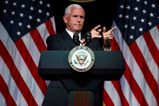 Pence outlines US Space Force plan for 'next battlefield'