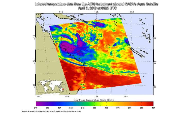 NASA sees Tropical Cyclone Iris at Queensland coast