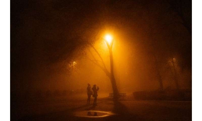 Air pollution levels were at the 'very unhealthy' level in the Bulgarian capital Sofia this week
