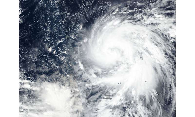 NASA-NOAA's Suomi NPP satellite catches Typhoon Yutu strengthening, Guam on alert