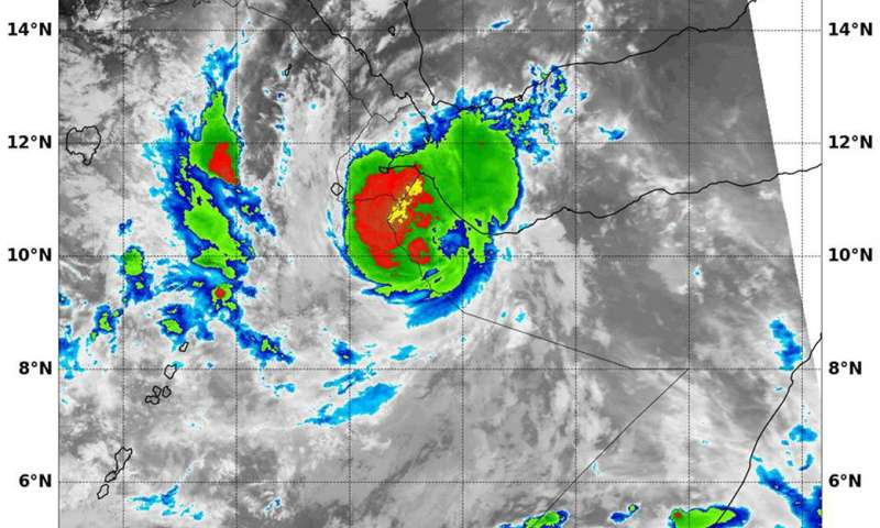 NASA sees Tropical Cyclone Sagar's landfall