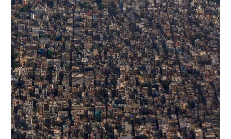 A general view of the outskirts of the Indian capital New Delhi, which is set to overtake Tokyo by 2028 as the world's most popu