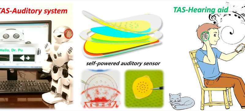A new triboelectric auditory sensor for social robotics and hearing aids