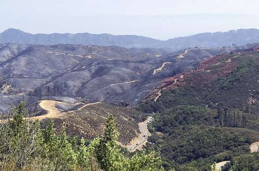 Firefighting mars the earth. California crews are fixing it