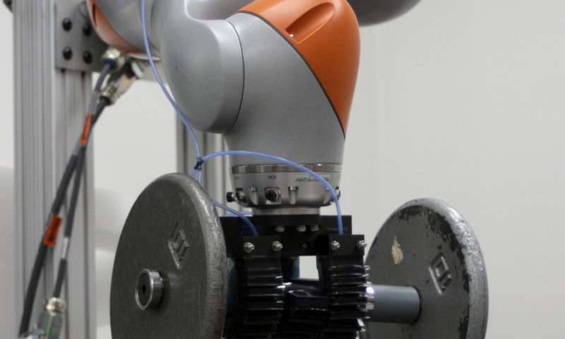Gecko-inspired adhesives help soft robotic fingers get a better grip
