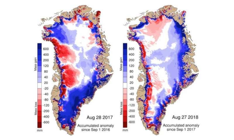 How the Greenland ice sheet fared in 2018