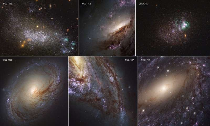 Hubble shows the local Universe in ultraviolet