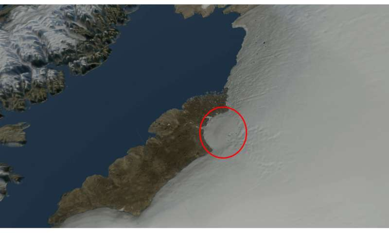 Huge crater discovered in Greenland – here's how the impact may have wiped out the mammoths