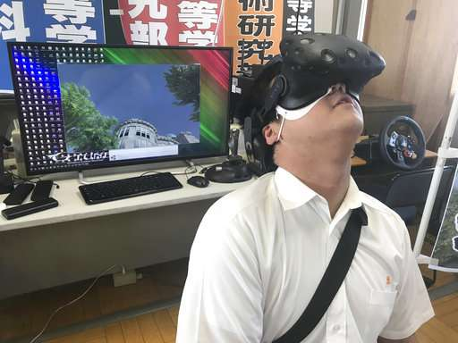 Japanese students use VR to recreate Hiroshima bombing