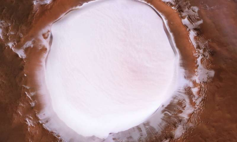 Mars Express gets festive: a winter wonderland on Mars