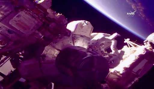 NASA astronauts go spacewalking days after reaching orbit
