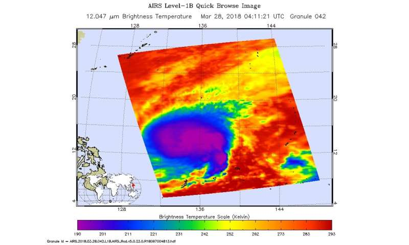 NASA finds Tropical Storm Jelawat strengthening