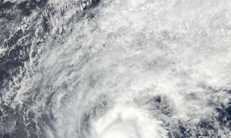 NASA satellite gets an eye-opening look at Super Typhoon Jelawat