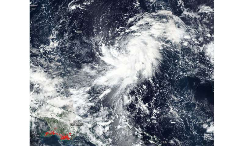 NASA tracks Tropical Storm Yutu, warnings posted