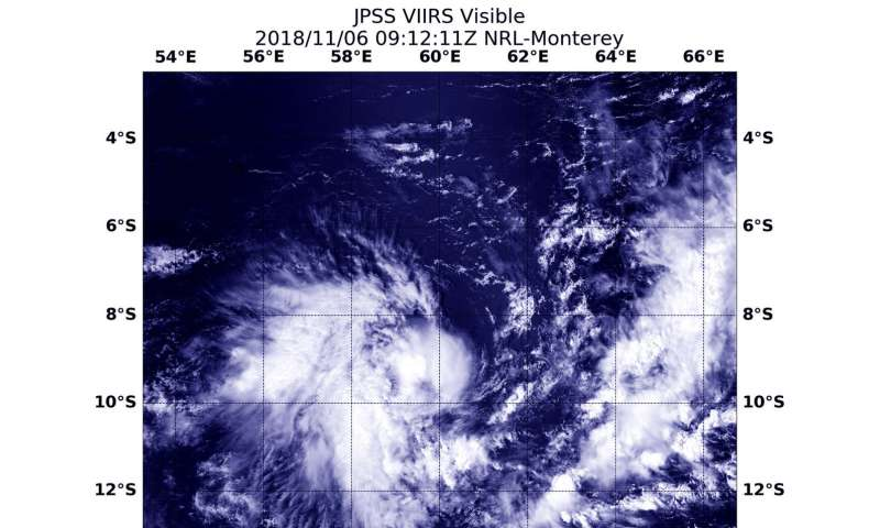 Satellite finds Tropical Cyclone 03S developing in Southern Indian Ocean
