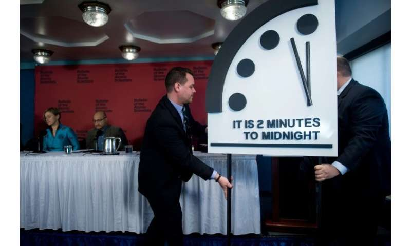 """The Bulletin of Atomic Scientists moved the """"Doomsday Clock""""—which serves as a metaphor for how close humanity is to d"""