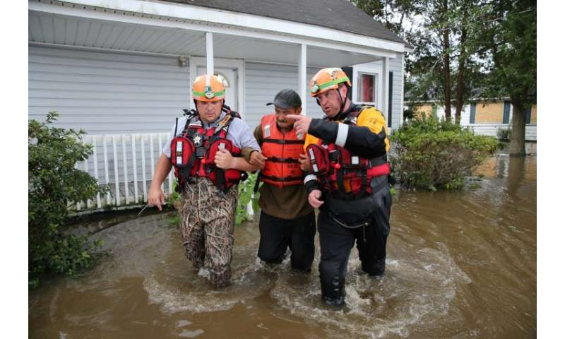The effects of climate change, such as the flooding seen in North Carolina during Hurricane Florence in September 2018, will get