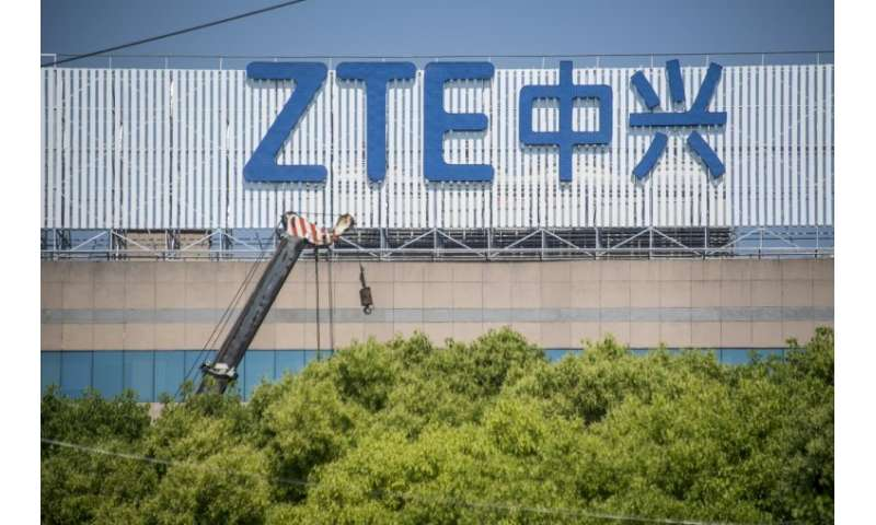 The United States has temporarily allowed Chinese telecoms company ZTE—a file image of its logo shown here—resume some activitie