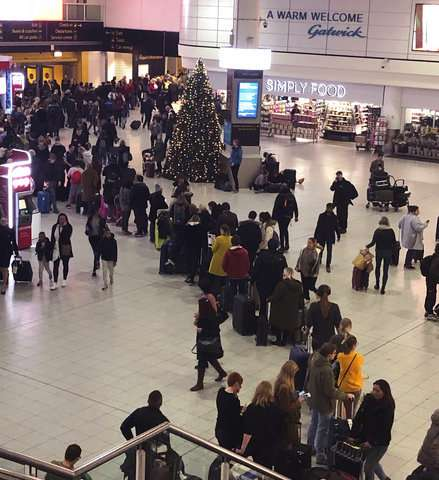 Travelers face chaos as drones shut London's Gatwick airport