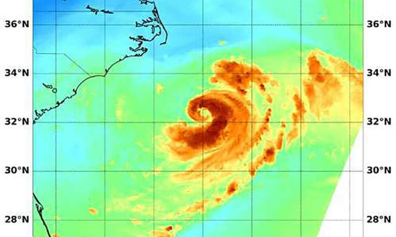 Tropical Storm Chris gives NASA satellite a signature 'C'