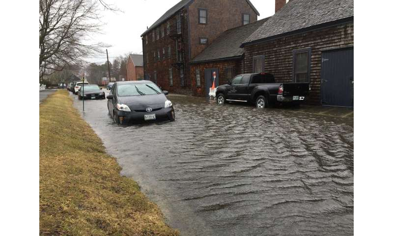 UNH Research finds dramatic increase in flooding on coastal roads