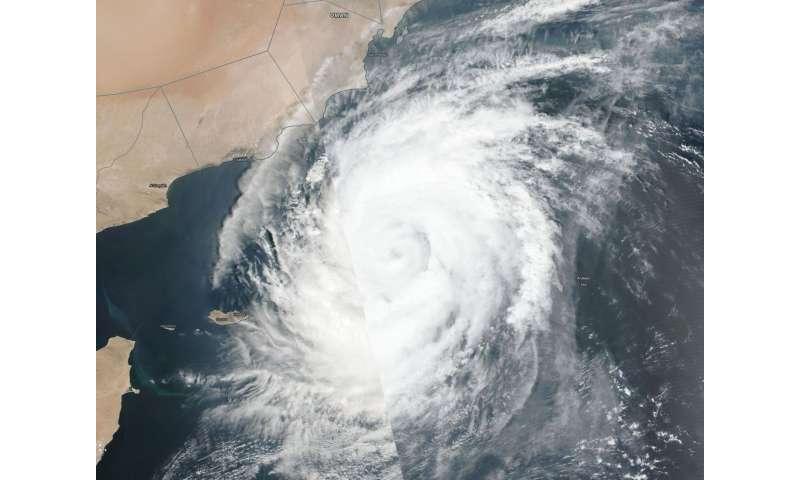 NASA finds Tropical Cyclone Luban crawling