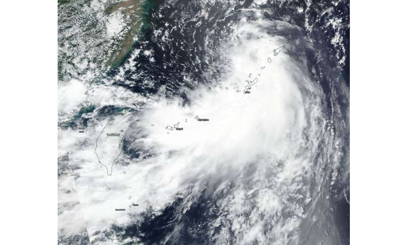 NASA satellite sees Tropical Depression Rumbia form
