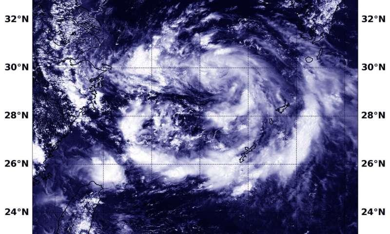 NASA sees Tropical Depression Jongdari nearing China landfall