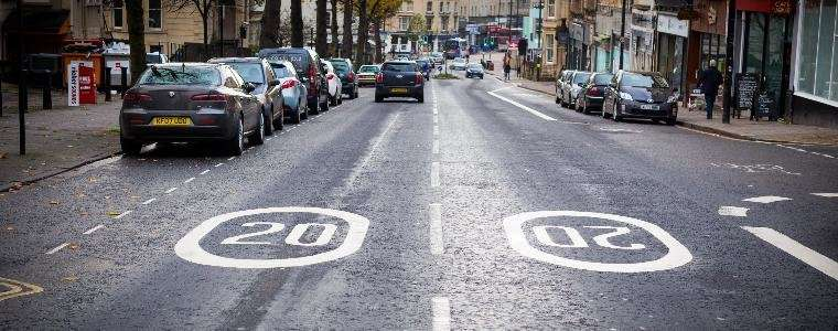 20 mph speed limits are effective, study finds
