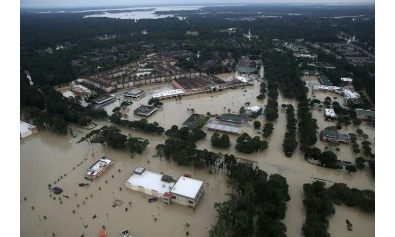 Hurricane Harvey, which flooded these homes near Lake Houston, Texas, in August 2017, cost $125 million and was the second-most