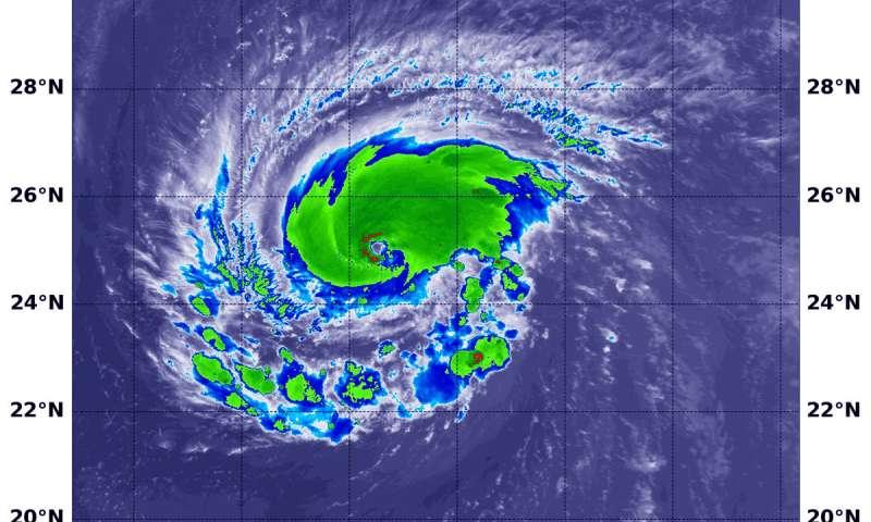 NASA satellites show Hurricane Florence strengthening