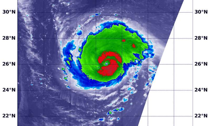 NASA satellite finds Hurricane Florence undergoing eyewall replacement