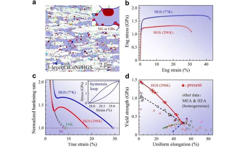 Researchers present new strategy for extending ductility in a single-phase alloy