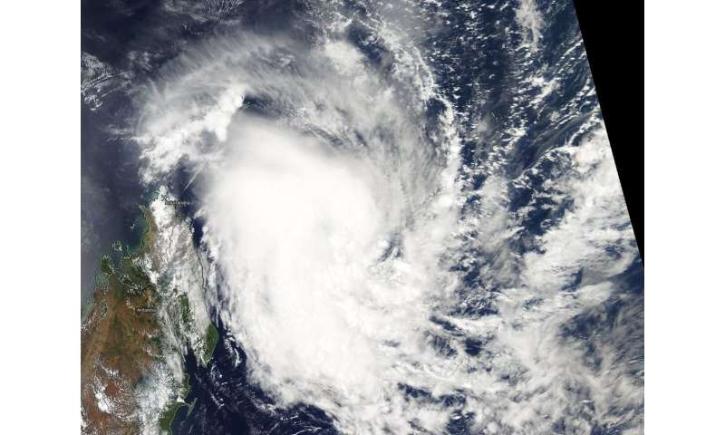 NASA satellite sees Tropical Cyclone Alcide nearing Madgascar