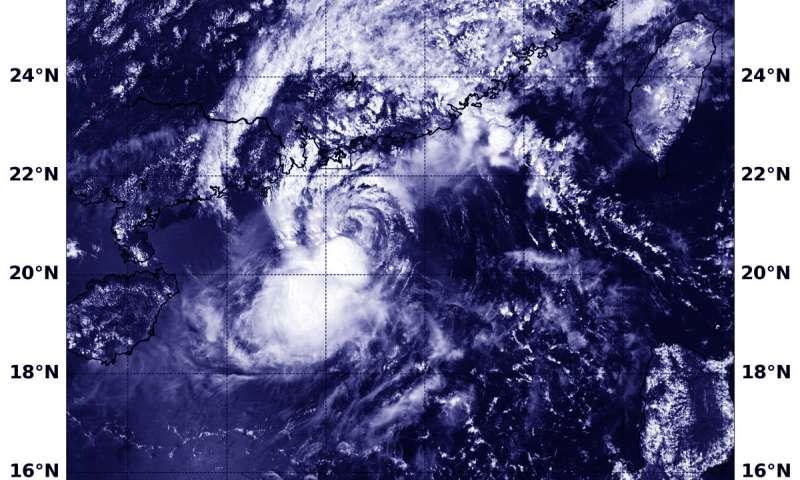 NASA Sees Tropical Storm Barijat affecting Southern China