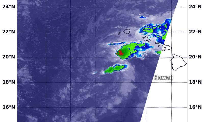NASA sees Tropical Depression Olivia's strength waning