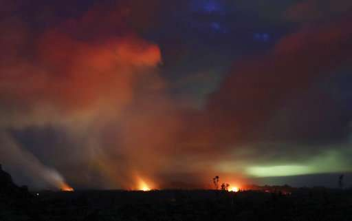 Amount of ash in plume above Hawaii volcano decreases