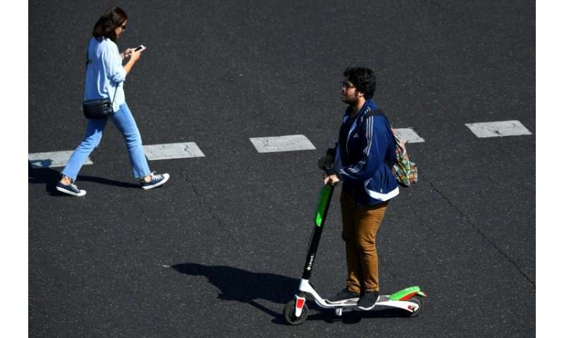 Electric scooter sharing schemes have popped up in city streets across Spain and elsewhere in Europe