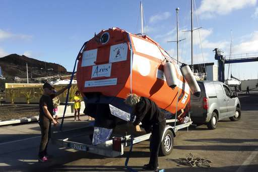 Frenchman trying to cross Atlantic in barrel capsule