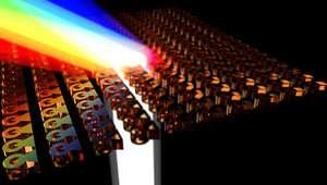 Nanostructured thin-films that can bend light by large angles could be a replacement for bulky glass optical components